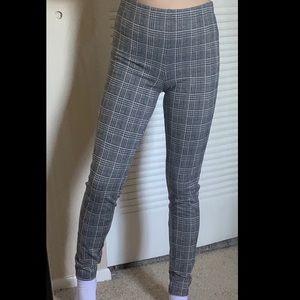 High waisted plaid leggings